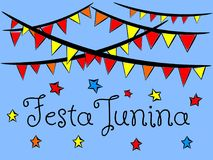 Festa junina background wallpaper isolated. Festa junina background or wallpaper isolated Royalty Free Stock Photo