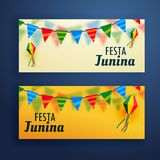 Festa junina banners set of two Royalty Free Stock Images