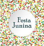 Festa Junina Brasil festival. Pattern made of colored dots. Stock Photos