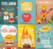 Festa Junina - Brasilien festival vektor illustrationer