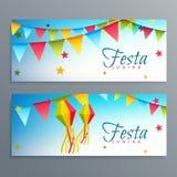 Festa junina brazil festival banners Royalty Free Stock Photos