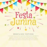 Festa junina brazil festival holiday background. Vector Stock Images