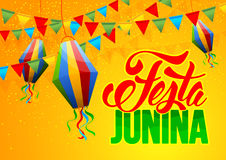 Festa Junina. Brazil holiday design with traditional decorations. Vector illustration Royalty Free Stock Images