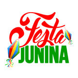 Festa Junina. Brazil holiday lettering design isolated on white background. Vector illustration Royalty Free Stock Photography