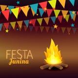 Festa junina brazil holidays illustration. Vector Royalty Free Stock Image