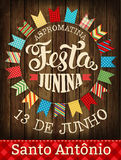 Festa Junina - Brazil June Festival. Folklore Holiday. Poster. Vector Illustration Stock Image
