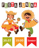 Festa Junina - Brazil June Festival. Folklore Holiday. Poster. Vector Illustration Stock Photography