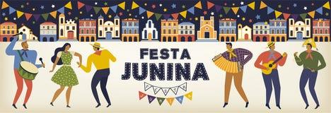 Festa Junina Brazil June Festival. Vector templates. Design element for card, banner, and other use. Festa Junina Brazil June Festival. Vector templates. Design Royalty Free Stock Photo