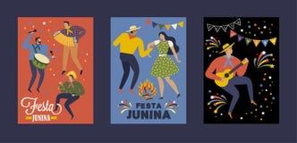 Festa Junina Brazil June Festival. Vector templates. Design element for card, poster, banner, and other use. Festa Junina Brazil June Festival. Vector templates Stock Photos