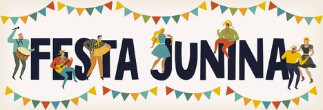 Festa Junina Brazil June Festival. Vector templates. Design element for card, poster, banner, and other use. Festa Junina Brazil June Festival. Vector templates Royalty Free Stock Images