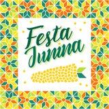 Festa Junina - Brazil Midsummer festival. Festa Junina illustration - traditional Brazil june festival party - Midsummer holiday. Carnival background - lettering Royalty Free Stock Photography