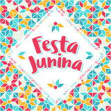 Festa Junina - Brazil Midsummer june fest. Festa Junina illustration - traditional Brazil june festival party - Midsummer holiday. Carnival background Stock Images