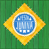 Festa Junina -  Brazilian  (June Party) Logo Royalty Free Stock Photo