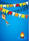 Festa Junina Brazylia tematu festiwal Folkloru wakacje Ja jest wektorowym ilustracją Obrazy Royalty Free