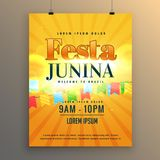Festa junina carnival flyer poster design background Royalty Free Stock Photo