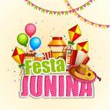 Festa Junina celebration background of Brazil and Portugal festival. Vector illustration of Festa Junina celebration background of Brazil and Portugal festival Stock Images
