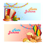 Festa Junina celebration background of Brazil and Portugal festival Royalty Free Stock Images