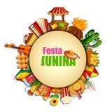 Festa Junina celebration background of Brazil and Portugal festival. Vector illustration of Festa Junina celebration background of Brazil and Portugal festival Stock Photography