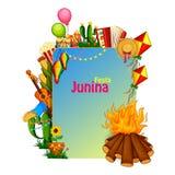 Festa Junina celebration background of Brazil and Portugal festival. Vector illustration of Festa Junina celebration background of Brazil and Portugal festival Royalty Free Stock Images