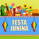 Festa Junina celebration background of Brazil and Portugal festival Royalty Free Stock Photo
