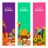 Festa Junina celebration background of Brazil and Portugal festival. Vector illustration of Festa Junina celebration background of Brazil and Portugal festival Stock Photos
