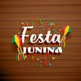 Festa junina celebration background with confetti. Vector Royalty Free Stock Photo