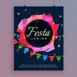 Festa junina celebration background flyer template Royalty Free Stock Images
