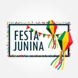 Festa junina celebration background holiday. Vector Royalty Free Stock Image