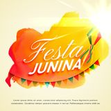 Festa junina celebration background for june party festival. Vector Royalty Free Stock Images