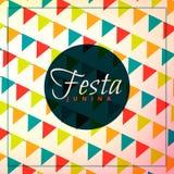 Festa junina celebration background. Vector Stock Image