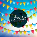 Festa junina celebration background. Vector Royalty Free Stock Image