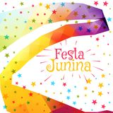 Festa junina celebration colorful background. Vector Royalty Free Stock Images