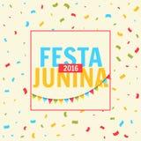 Festa junina celebration with confetti. Vector Royalty Free Stock Photos
