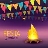 Festa junina celebration illustration. Vector Stock Photo