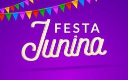 Festa Junina celebration party background. Brazil june festival holiday carnival design.  Royalty Free Stock Image