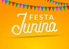Festa Junina celebration party background. Brazil june festival holiday carnival design.  Royalty Free Stock Photo