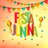 Festa junina celebration party background. Vector Royalty Free Stock Photography