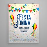 Festa junina celebration party invitation template banner Stock Photos