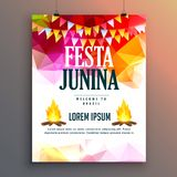Festa junina celebration party poster design background Stock Photos