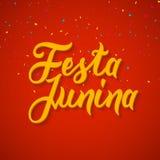 Festa Junina celebration poster. Brazilian festa decoration flye design template Royalty Free Stock Photo