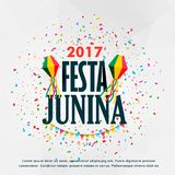 Festa junina celebration poster design with confetti. Vector Royalty Free Stock Image