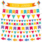 Festa Junina decoration set. Festa Junina vector decoration set Stock Photography