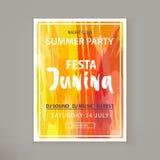 Festa Junina fest vektor illustrationer