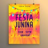 Festa junina flyer design invitation template Stock Photography