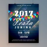 2017 festa junina flyer design template Stock Photo