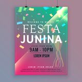 Festa junina flyer template for brazilian festival Royalty Free Stock Photos