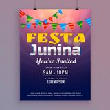 Festa junina greeting card invitation design Royalty Free Stock Photography