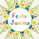 Festa Junina greeting card, invitation, poster. Brazilian Latin American festival template for your design.Vector Stock Photography
