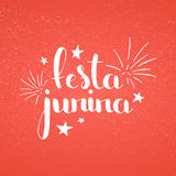 Festa Junina handwritten lettering Stock Images