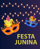 Festa Junina Holiday Background. Traditional Brazil June Festival Party. Midsummer Holiday. EPS10 Royalty Free Stock Image